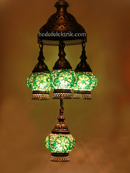 Turkish Style - Mosaic Lighting - Mosaic lamps are made of original colour of glasses. When the lamp is lit, the glasses cause colorful shades, which can suddenly change the ambiance of a room by its inspiring view. Noe of the glasses are painted nor applied a transaction. Each parts of the lamp are handmade.