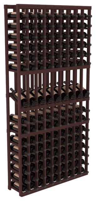 9 Column Display Row Wine Cellar Kit in Premium Redwood, Walnut contemporary-wine-racks
