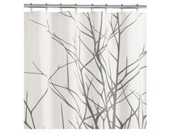 2-Piece Arbor Shower Curtain and Angel Hair Rug Gift Set CB2 contemporary shower curtains