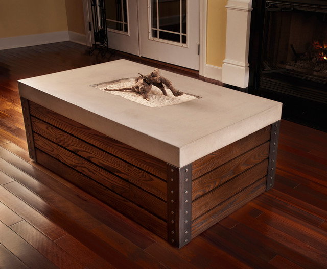 Coffee Table 11 Concrete Wood amp Steel Modern