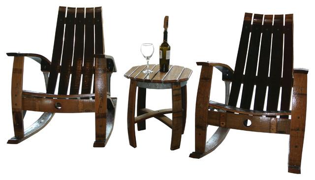 barrel garden furniture