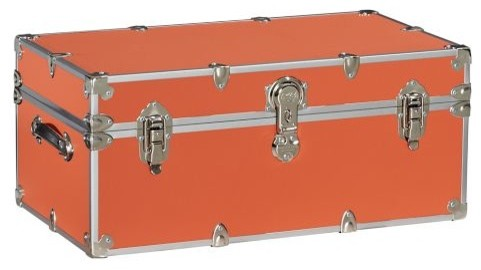 Dorm Sticker Trunk in Orange traditional storage boxes