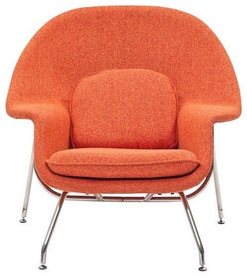 Modway - Lounge Chair in Orange Tweed - EEI-113-ORT - traditional
