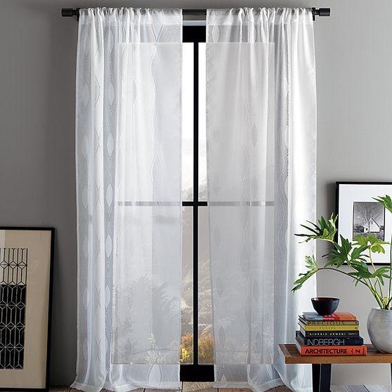New Allegra Hicks Wavy Burnout Window Panel modern-curtains