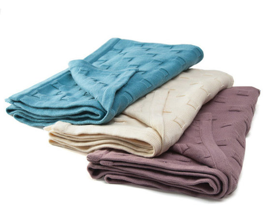 Sefte Living - Sefte Qipi Baby Blanket-Lilac - Surround your children in luxury you can feel good about. The Qipi blanket is both eco-conscious and wonderfully indulgent. The playful design of circles and squares is texturally worked into the weave structure. Woven by artisans in Peru.