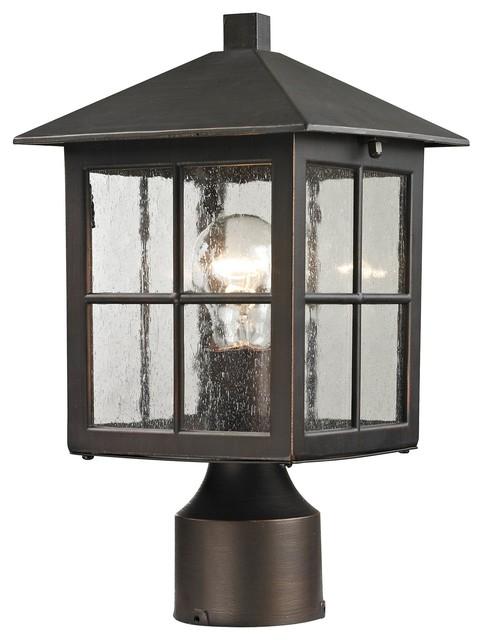 Shaker Height Transitional Outdoor Post Lantern Light