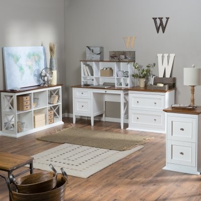 Belham Living Hampton Office Collection - White/Oak modern-filing-cabinets-and-carts