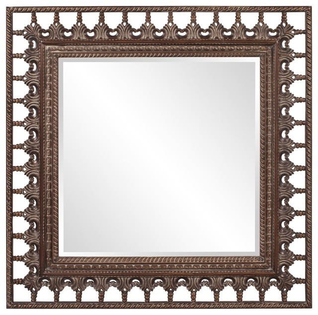Spindle Square Mirror contemporary-mirrors