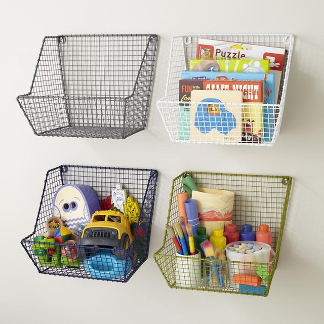 Down to the Wire Wall Bin contemporary-toy-storage