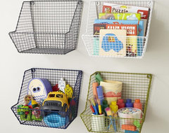 Down to the Wire Wall Bin contemporary-toy-organizers