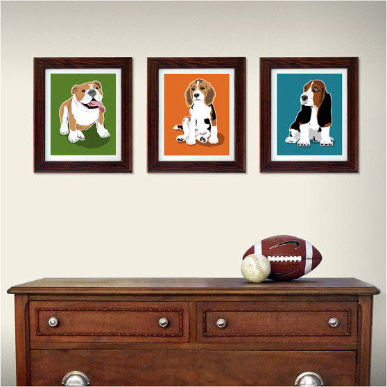 Puppy Dog Wall Art For Kids By Paper Llamas