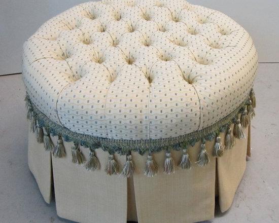 new build ottoman - designer's vision complete!