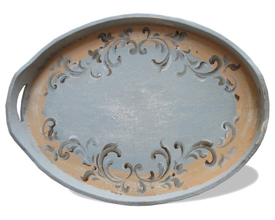 Oval Tray - A design as old as time and materials that can withstand time, make this furnishing a smart and gorgeous piece to accent your home with. Come visit our showroom for an alluring furnishings and decor experience!