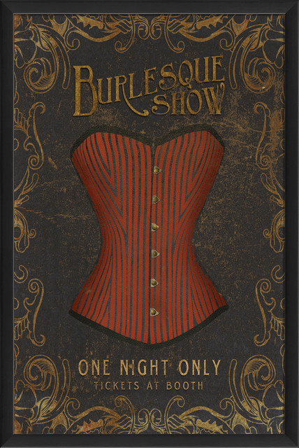 """""""Burlesque Show"""" Print contemporary-prints-and-posters"""