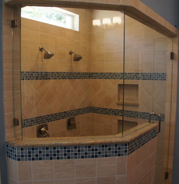Frameless 3 8 Custom Angled Shower Enclosure