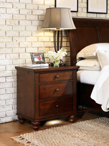 3 Drawer Nightstand with Drawer Charging Station traditional-dressers-chests-and-bedroom-armoires