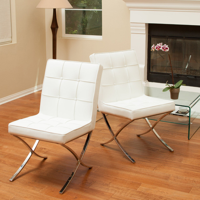 Christopher Knight Home Milania White Leather Dining