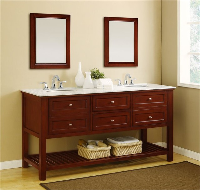 Double Bathroom Vanities Traditional Bathroom Vanities