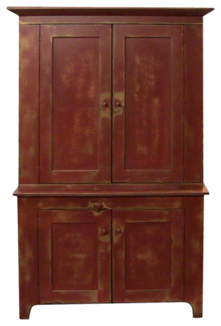 """Red 48"""" Fairfield TV Cabinet eclectic-storage-cabinets"""