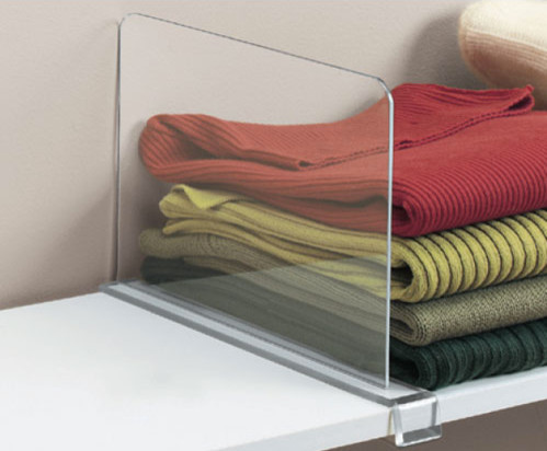 Acrylic Shelf Divider contemporary-closet-organizers