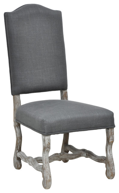 casper distressed grey oak side chair contemporary