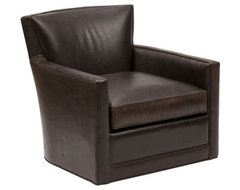 Cody Leather Swivel Glider Chair  chairs
