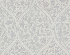 Zinc Moroccan Wallpaper mediterranean-wallpaper