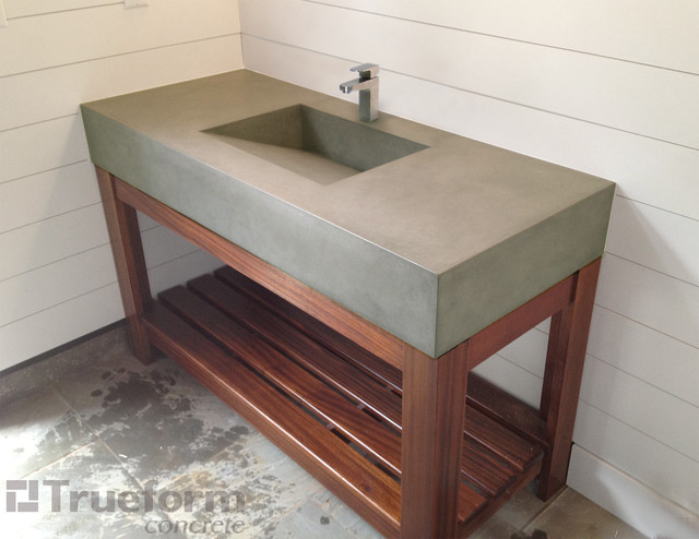 Sink - Traditional - Bathroom Sinks - new york - by Trueform Concrete