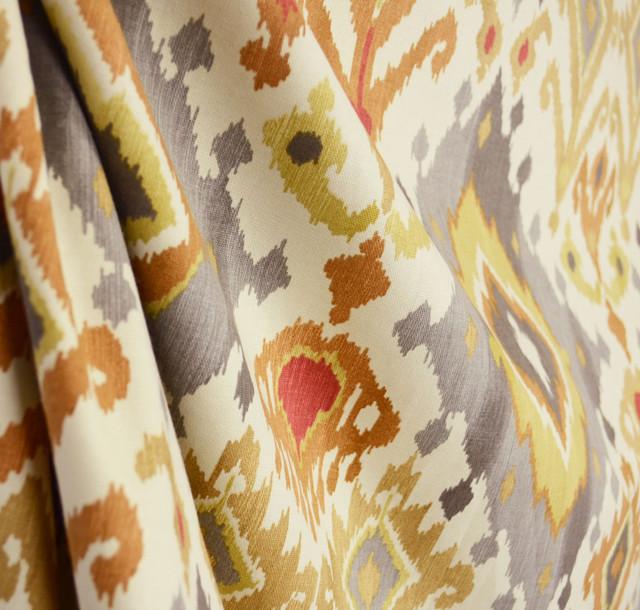 Ikat damask drapery fabric by the yard contemporary drapery fabric