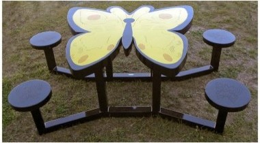 OFab Kid's Butterfly Picnic Table modern-changing-tables