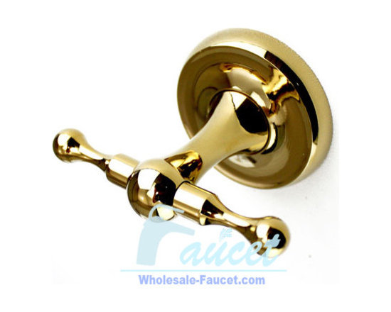 Luxury Polished Brass Bathroom Robe Hook - ●Wall mounted polished brass bathroom robe hook J-112