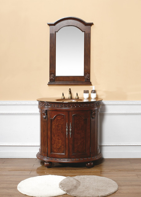 36 grace half round bath vanity traditional bathroom vanities and
