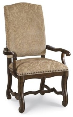 A.R.T. Furniture Coronado Upholstered Arm Chair - Tapestry - Barcelona Walnut - modern-dining-sets