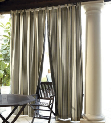 Reversible Outdoor Curtains - traditional - outdoor decor - - by ...