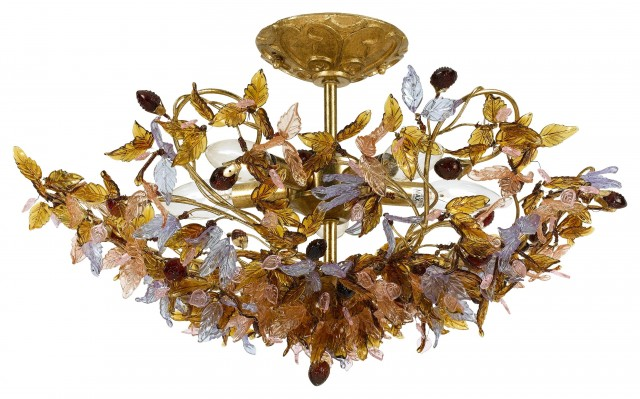 Fiore Collection - Dorian Webb for Crystorama - Ceiling Mount  lighting