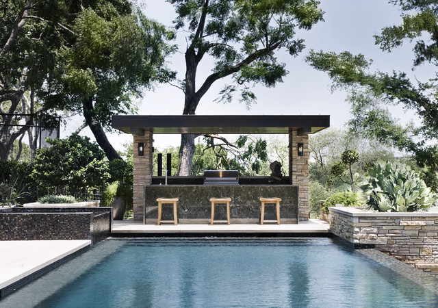Cabana contemporary pool