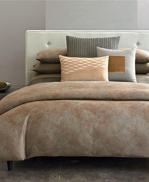 Calvin Klein Home Vases: Calvin Klein Home Bedding, Oxidized Paisley Queen Duvet