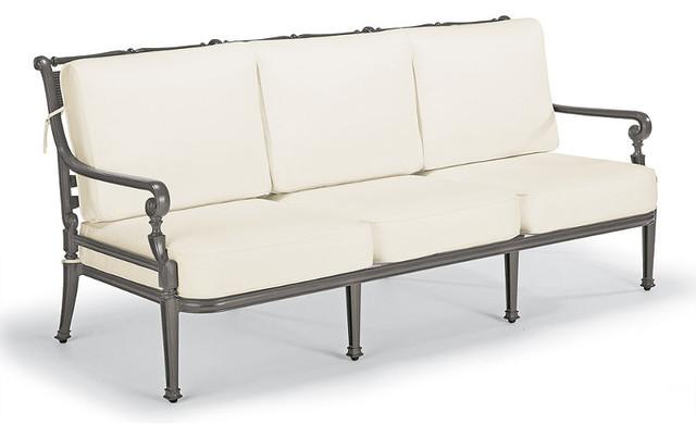 Carlisle Outdoor Sofa With Cushions In Gray Finish, Patio