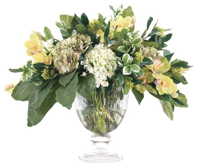 Hydrangea centerpiece quot h traditional artificial