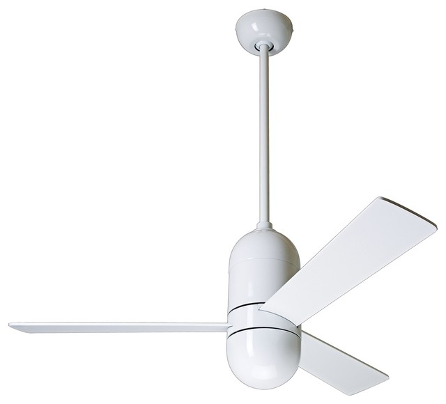 "42"" Modern Fan Gloss White Cirrus Ceiling Fan contemporary-ceiling-fans"