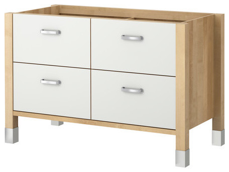 V Rde Base Cabinet Birch White Scandinavian Kitchen Cabinetry By IKEA
