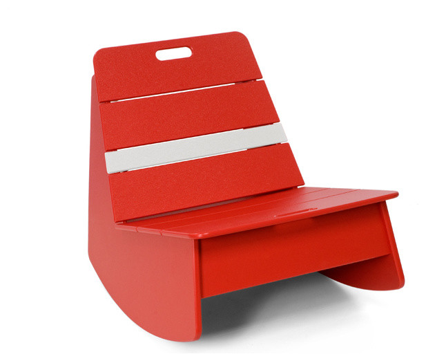 Loll Designs Apple Red Racer Rocker Chair contemporary-rocking-chairs