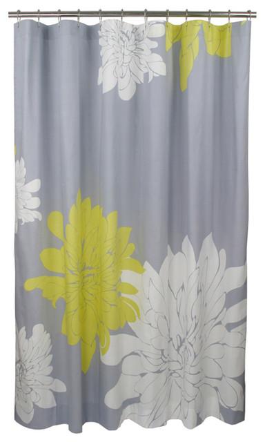Ashley Shower Curtain, Citron contemporary-shower-curtains