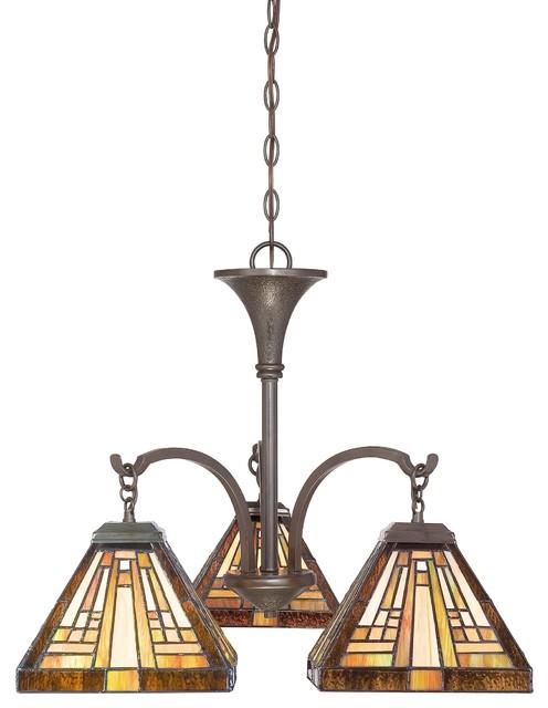 Quoizel Lighting TFST5103VB 3 Light Dinette Chandelier Stephen Collection chandeliers