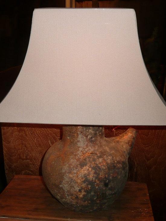 Unique Lighting - Antique vessel base bedside lamp