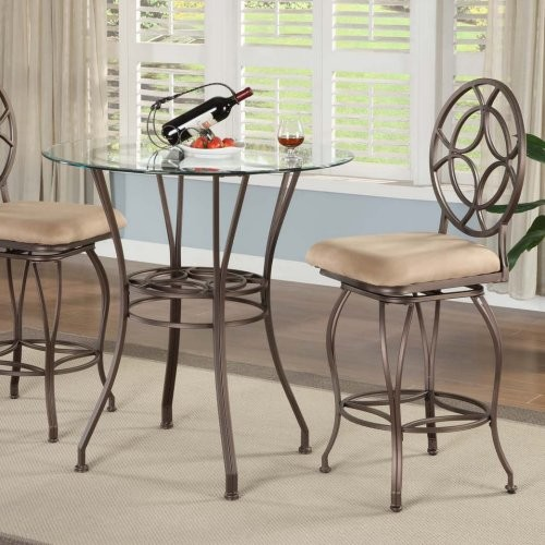 Iona 3 piece counter height dining pub set modern bar tables by