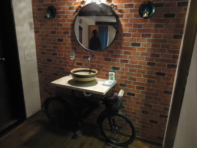 Bicycle sink modern bathroom sinks other metro by for Kitchen colors with white cabinets with tandem bike wall art