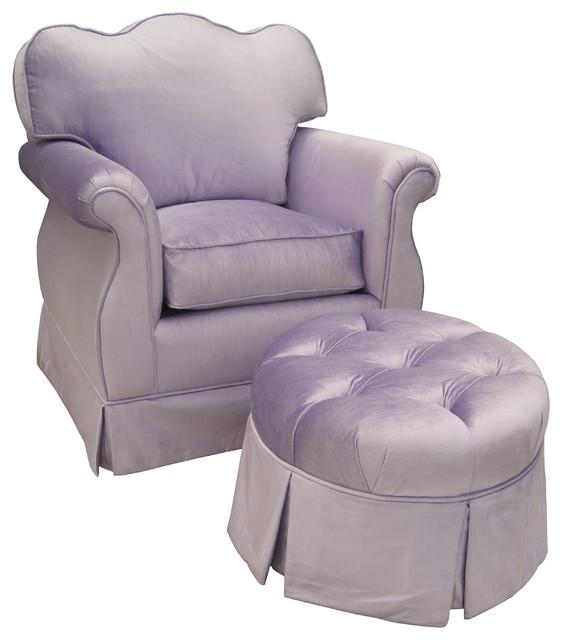 Adult Empire Aspen Lilac Custom Nursery Glider contemporary-chairs
