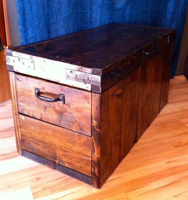 Storage Trunk eclectic-footstools-and-ottomans