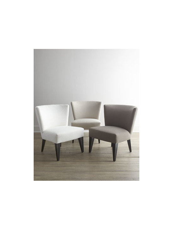 """Massoud - Massoud """"Lindy"""" Chair - Whether it's extra seating in the dining room, at a desk, in the bedroom, at a vanity, or in a den or living room, this chair provides the answer with contemporary style. Frame made of furniture-grade hardwoods. Polyester/linen upholstery. Select col..."""